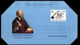 2016 Vatican -Mint Aerogramme - 50 Years / 50 Annivers. Dell'Usfi Unione Stamps Fiatelica Italiana - MNH (üü17) - Postal Stationeries
