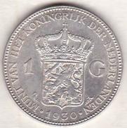 PAYS-BAS . 1 GULDEN 1930 . WILHELMINA .ARGENT - 1 Gulden