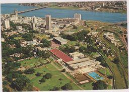 Afrique,africa,COTE D'IVOIRE,ex COLONIE FRANCAISE,ABIDJAN,PISCINE,HOTEL,PALAIS DE LA PRESIDENCE,VUE AERIENNE - Côte-d'Ivoire