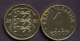 Estonia 1 Kroon 2001 UNC - Estonia