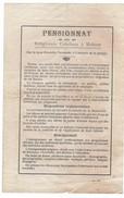 Asse / Mollem / Molhem / Pensionnat Des Religieuses Ursulines à Molhem. - Documents Historiques