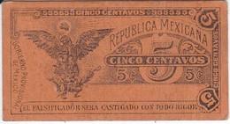 BILLETE DE MEXICO DE 5 CENTAVOS DEL AÑO 1914 TRANSITORIO (BANKNOTE) - México
