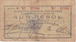 BILLETE DE MEXICO DE 1 PESO DEL AÑO 1913  DE CHIHUAHUA (BANKNOTE) PANCHO VILLA - México
