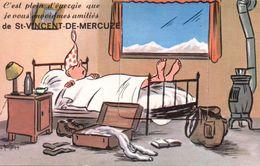 CARTE A SYSTEME  ILLUSTRATEUR  38 ISERE ST SAINT VINCENT DE MERCUZE GRENOBLE - Cartoline Con Meccanismi