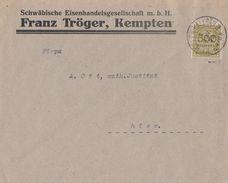 DR Ortsbrief Mif Minr.324 Kempten 8.11.23 Geprüft - Deutschland