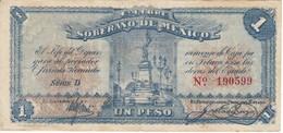 BILLETE DE MEXICO DE 1 PESO DEL LIBRE SOBERANO DEL AÑO 1915   (BANKNOTE) - México