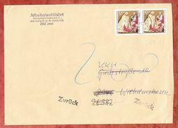 Grossbrief, MeF Weihnachten, Jever Nach Wilhelmshaven, Wegen Nachporto Annahme Verweigert, Zurueck 1.7.1993 (41958) - Covers & Documents