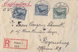 DR Brief Einschreiben Mif Minr.378,2x 380 Passau 13.12.27 - Deutschland