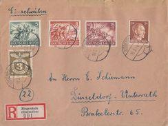 DR R-Brief Mif Minr.792,830,833,835,837 Ziegenhals 16.2.44 - Briefe U. Dokumente