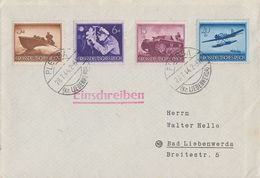 DR R-Brief Mif Minr.873,876,880,882 Plessa 28.7.44 - Briefe U. Dokumente