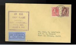 1932 Jamaica First Flight Cover FFC To Haiti Dominicana - Jamaica (...-1961)