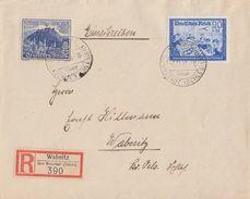 DR R-Brief Mif Minr.711, 737 Wabnitz 5.12.39 - Briefe U. Dokumente