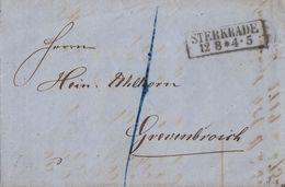 Preussen Brief (Rechnung) R2 Sterkrade 12.8. Gel. Nach Grevenbroich - Preussen