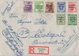 SBZ R-Brief Mif Minr. 185,192,200,201,203,205,207 Altenburg 19.10.48 - Sowjetische Zone (SBZ)