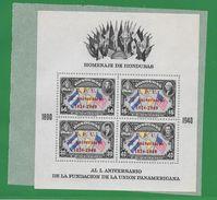 HONDURAS AN 1940 CINQUANTENAIRE DE L'UNION PANAMERICAINE BLOC NR. 1 MNH - Honduras