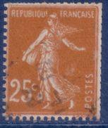25 C Semeuse Camée Brun Type III De Roulettes Oblitéré - Coil Stamps
