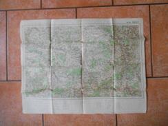CARTE DE FRANCE ET DES FRONTIERES A 1/200 000 TYPE 1912 N° 26 TROYES - Topographical Maps