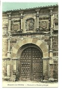 Postal  Monasterio De Piedra Zaragoza Puerta De La Fachada Principal - Zaragoza