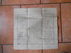CARTE DE LA BELGIQUE A 1:40 000 TABLEAU D'ASSEMBLAGE DES FEUILLES - Topographical Maps