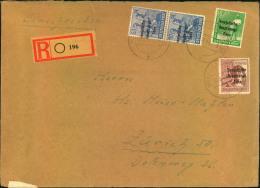 """1949, Portogerechtes Einschreiben 41-60 Gramm Ab """"""""Â… (BZ. LEIPZIG)"""""""" Nach Zürich. - Emisiones Locales"""