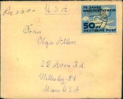 1951, 50 Jahre UPU Als EF Auf Brief Ab BERLIN-KÖPENICK 1 - 15.1.51 Nach USA. - DDR