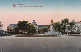 AK Tournai - Place De La Gare Et Monument Bara - Feldpost 1917 (30720) - Tournai