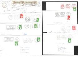 FRANCE '62 ISBERGUES' 1978/92  12 MARQUES POSTALES Et OBLITERATIONS - Marcophilie (Lettres)