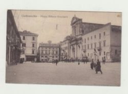 CIVITAVECCHIA - PIAZZA VITTORIO EMANUELE -ANIMATA -  VIAGGIATA 1912 - ITALY POSTCARD - Civitavecchia