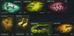LESOTHO 1968 Protection For Rock Paintings, Cave Art, Fauna MNH - Lesotho (1966-...)