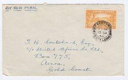 1945 SIERRA LEONE To GOLD COAST  1/3 Stamps COVER - Sierra Leone (...-1960)