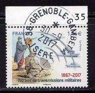 France 2017.150 Ans De Transmissions Militaires.Cachet Rond.Gomme D'Origine. - France