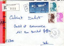 1- FRANCE Recommandé De ST CANNAT 13 - 1987 - Marcofilia (sobres)