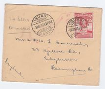 1940 GOLD COAST CENSOR Obuasi COVER 1 1/2d Christiansborg Castle Stamps To GB Censored Wwii - Gold Coast (...-1957)