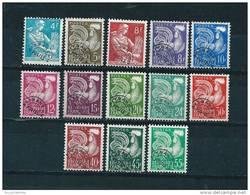 France Preo Timbres De 1953/59  N°106/118  Neuf * Petite Charnière (cote 59,50€) - 1953-1960