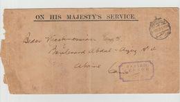 "1915 - Cachet Censure - "" ON HIS MAJESTY'S SERVICE "" - Cachet PORT SAID Et CAIRO - 1915-1921 Protectorat Britannique"