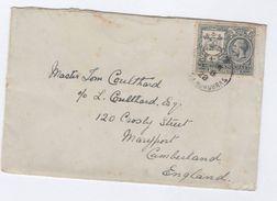 1928 BRITISH HONDURAS COVER 4c To GB Gv Stamps,  Belize - British Honduras (...-1970)