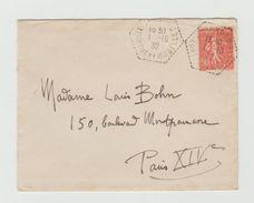 LSC 1932 - YT 199 Seul Sur Lettre Pour PARIS - Voir Cachets - Marcophilie (Lettres)