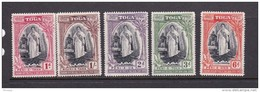 Tonga SG 83-87 1944 Silver Jubilee MNH - Tonga (...-1970)