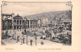 "06633 ""CILE - VALPARAISO - PLAZA VICTORIA CON PALACIO EDWARD"" ANIMATA. CART NON SPED - Cile"