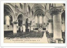 CPA - 81 - VILLEFRANCHE (d'Albigeois) - Intérieur De L'Eglise - P.X. 6 - Le Tarn Illustré - Villefranche D'Albigeois