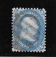 ETAT UNIS AN 1861 BENJAMIN FRANKLIN YVERT TELLIER NR. 18 OBLITERE DE LUXE LUJO - 1847-99 Algemene Uitgaves