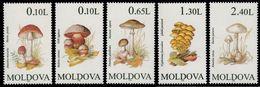 (011) Moldova  Plants / Flora / Mushrooms / Champignons / Pilze  ** / Mnh  Michel 190-94 - Moldavie