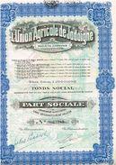 Action Ancienne - Sté Anonyme L' Union Agricole De Jodoigne -Titre De 1927 - Belgique - Agriculture