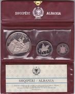 Albania 1970 Silver Proof Set  25, 10 & 5 Leke Original Official Wallet (free Shipping Via Registered Air Mail) - Albania