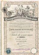 "Action Ancienne - Sociedade De Respomsabildade Limitida ""Companhia De Amboim"" -Titre De 1927 - Angola - Afrique"