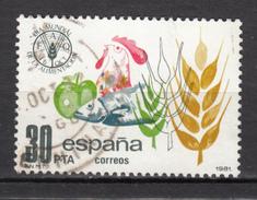 Espagne, Spain, Coq, Rooster, Poisson, Fish, Blé, Wheat, Pomme, Apple, FAO, Contre La Faim - Galline & Gallinaceo
