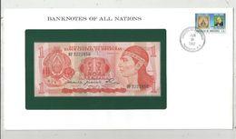 Billet Neuf  , Enveloppe Timbrée Oblitérée , Banco Central De Honduras , 1 , Un Lempira , Frais Fr : 1.95 Euro - Guyana