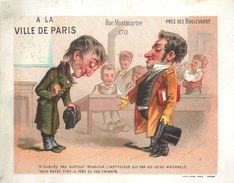 """SUPERBE GRAND CHROMO - MAGASIN  """"A LA VILLE DE PARIS"""" - ILLUSTRATEUR - HUMOUR  - (12,5 X 16 Cm) - TB -170 Rue Montmartre - Autres"""