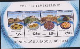 O) 2014 TURKEY, TYPICAL FOODS - GASTRONOMY, MOSQUE - ARCHITECTURE - HISTORIC CENTRE, SOUVENIR MNH - 1921-... Republic