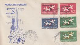 Enveloppe  FDC  1er  Jour   GUINEE    La   Conquête  De   L' ESPACE    1962 - Guinée (1958-...)